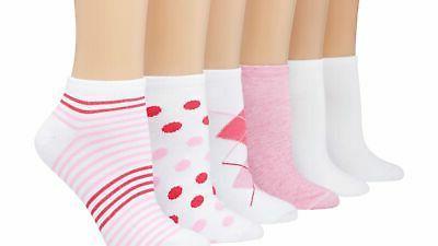 womens low cut socks 6 pack lightweight