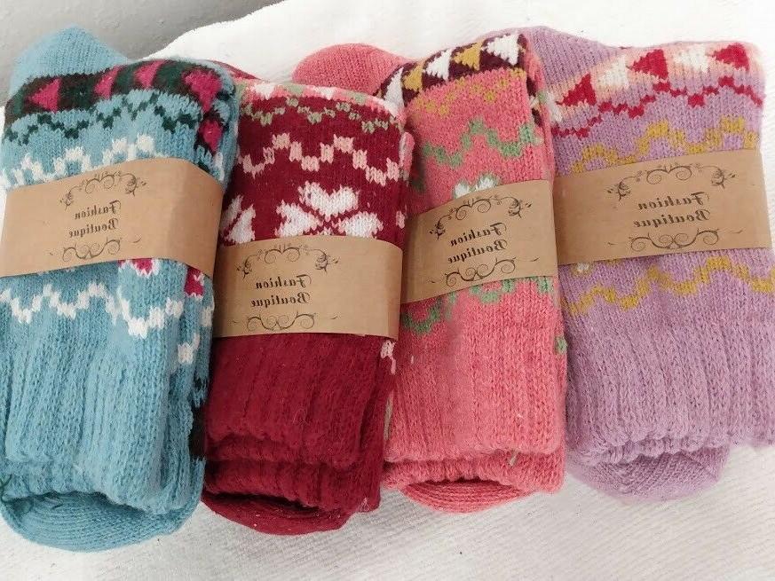 woolen fashion boutique girls socks 4 pair