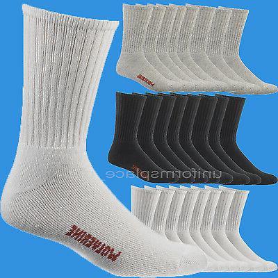 Wolverine Work Socks 4 Pairs Cotton Crew Sock W91102670 Whit