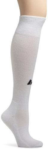 adidas Youth Field Sock II Soccer Sock , White/Black , Large
