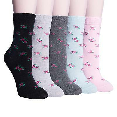 YSense Womens Knit Warm Casual Crew Socks (fits shoe