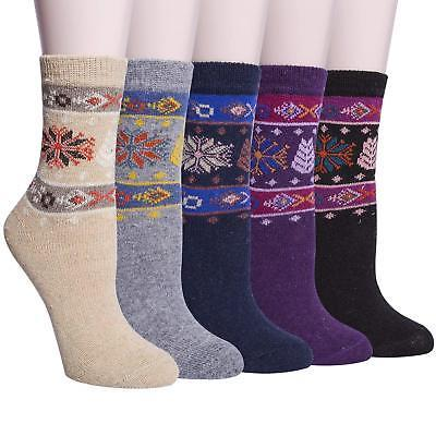 ysense 5 pairs womens knit warm casual