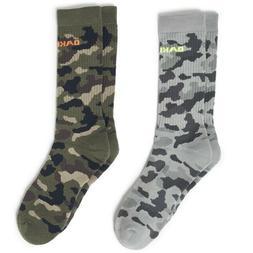 Oakley Large Camou Socks, Core Camo Design, Long, 2-Pack