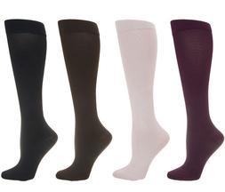 Legacy Graduated Compression Socks Set of 3 Blk/Br/Rose Size