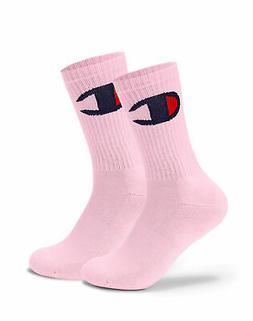 Champion Life Socks Crew Big C Real New Black Pink White Ela