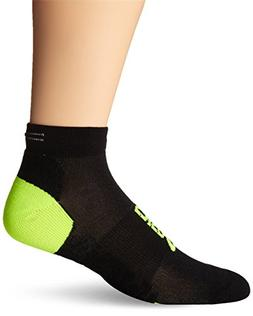 ASICS Lite-Show Nimbus Low Socks, Black/Neon, Small