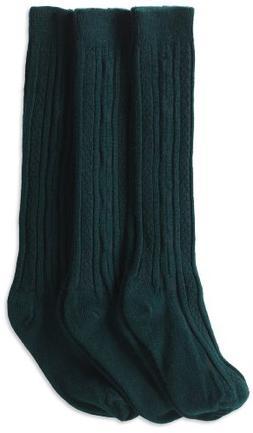 Jefferies Socks Little Girls'  School Uniform Cable Knee Hig
