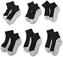 Jefferies Socks Little Boys' Seamless Sport Quarter Half Cus