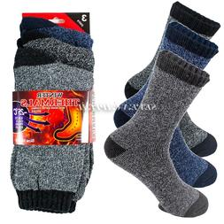 Lot 1-12 Mens Winter Thermal Heated Super Warm Socks Heavy D