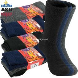 Lot 3-12 Pairs Mens Warm Heavy Duty Winter Thermal Heated Bo