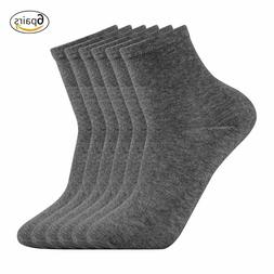 Lot 6 Pairs Pack High Ankle Quarter Crew Sports Dress Socks