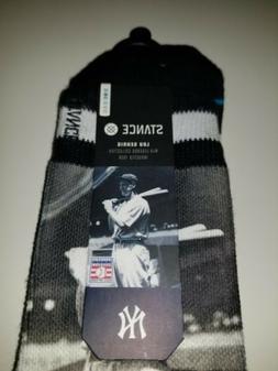 Lou Gehrig Stance Socks S/M 6-8.5 MLB Legends New York Yanke