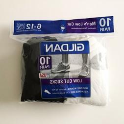 Gildan Mens Lowcut Socks 10-pack