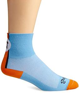 SockGuy Men's Lucky 13 Socks, Light Blue, Sock Size:10-13/Sh