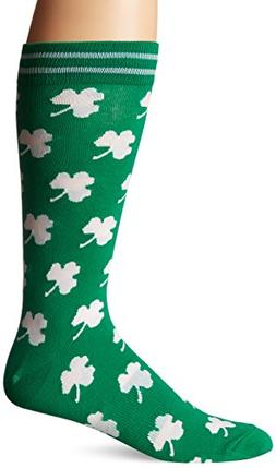 Lucky Shamrock SOCKS St. Patricks Day Four Leaf Clover K Bel