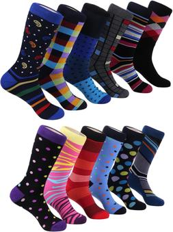 Marino Men's Dress Socks Colorful Funky Socks for Men - Cott