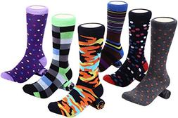 Marino Mens Dress Socks - Fun Colorful Socks for Men - Cotto