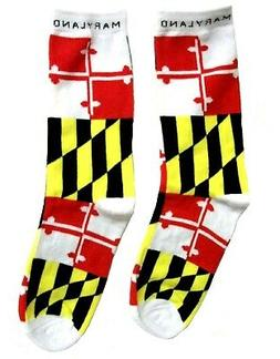 Maryland State Flag Crew Socks Size 11-13