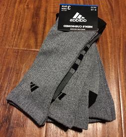 Adidas Men 6-12 CREW Socks Cushioned GRAY Moisture Wicking 3