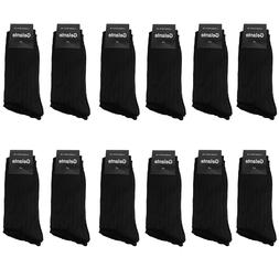 Gelante Men All Black Dress Socks Fashion Casual Cotton 3,6,