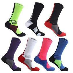 Men Anti Slip Soccer Football Socks Sport Absorb Sweat Breat