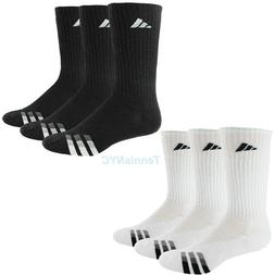 ADIDAS Men Cushioned Tennis Socks 3 Pair Crew Training Baske