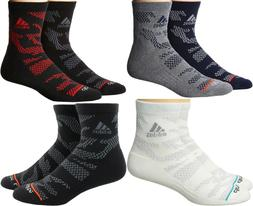 Adidas Men High Quarter Cushioned Climalite Compression Sock