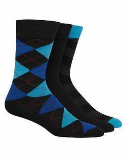 Hanes Men's 3-Pack Dress Socks Ultimate FreshIQ Assorted Lig