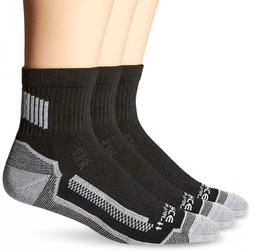 Carhartt Men's 3 Pack Force Performance Work Quarter Socks S