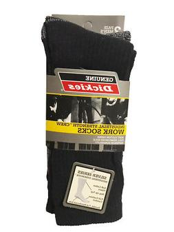 Dickies Men's 3-Pack Industrial Strength Cotton Work Crew So