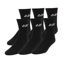 Fila Men's 3-Pack Cushioned Athletic Socks Black 10-13