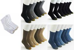 Gold Toe Men's 3 Pair Athletic Cushioned Cotton Crew Socks S