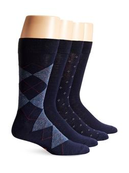 Dockers Men's 4 Pack Argyle Dress Socks Navy Sock Size:10-13