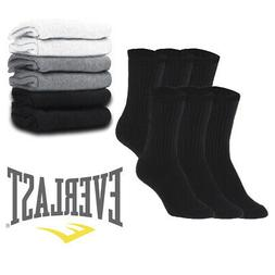 Everlast Men's 6 Pack Cotton Regular Tube Crew Socks Casual