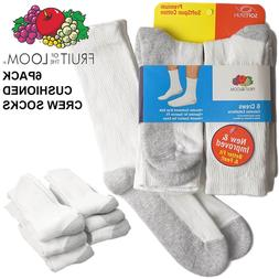 Fruit of the loom men's 6 pack Premium soft spun crew socks