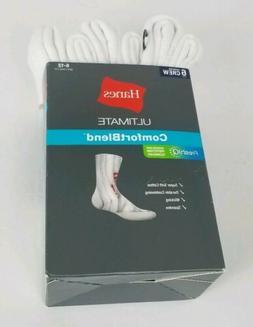 Hanes Men's 6 Pair Ultimate Comfort Blend Crew Socks Size 6-