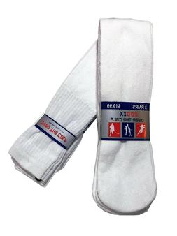 "Men's Big & Tall Sports Tube Socks 3/6/12 Pack  ""Over The Ca"
