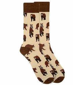 Men's Brown Bear Pattern Novelty Socks