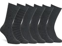 Easton Marlowe Men's Classic Subtle Pattern Dress Socks - 6p