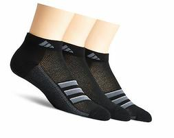 adidas Men's Climacool Superlite Low Cut Socks  Black/Onix/L