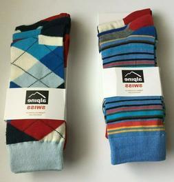 Alpine Swiss Men's Cotton Dress Socks Pack of 6 NWT