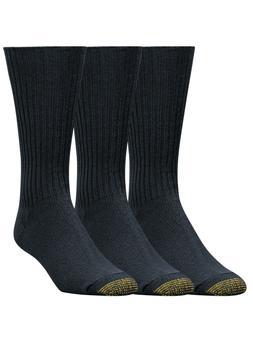 Gold Toe Men's Cotton Fluffies Crew Premium Dress Socks - 3