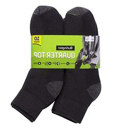 Burlington Men's Cotton Quarter Socks Comfort Power , Black,