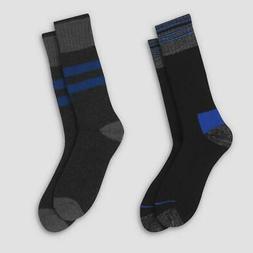 Men's Crew Socks Heavyweight Wool Blend C9 Champion 2 Pack S