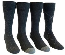 Kirkland Signature Men's Cushion Foot Dress Socks - 4 Pairs