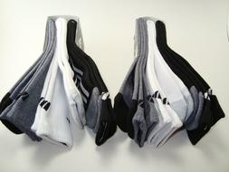 ADIDAS - Men's Cushioned Crew Socks - 3 Pairs - Black, White