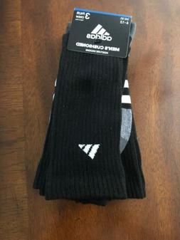 ADIDAS Men's Cushioned Crew Socks Moisture Wicking 3 Stripe