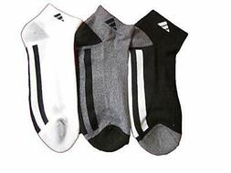 adidas Men's Cushioned Low Cut Socks Ankle Cut Black White G