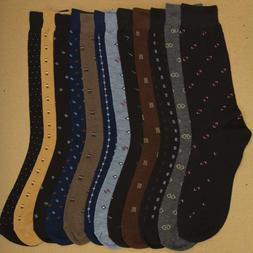 Men's Dress Shoes Socks Cotton Blend in 12 Assorted Patterns