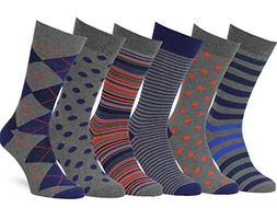 Easton Marlowe Men's Dress Socks Colorful Pattern Cotton - 6